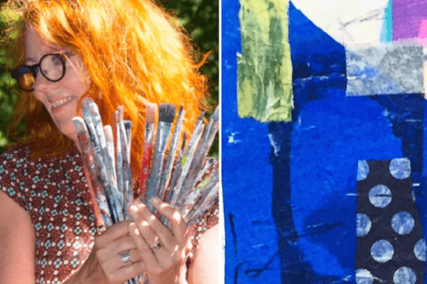 abstrakt collage kursus charlotte skaaning